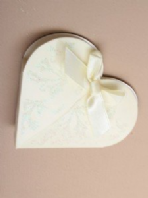 Cream glitter heart favour gift box (Code 2297)